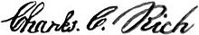 Signature of Charles C. Rich