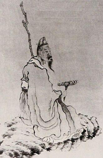 Lingzhi mushroom - Man holding ganoderma by Chen Hongshou