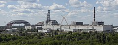 Chernobyl NPP Site Panorama with NSC Construction - June 2013.jpg