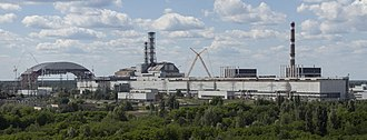 Chernobyl New Safe Confinement - Image: Chernobyl NPP Site Panorama with NSC Construction June 2013