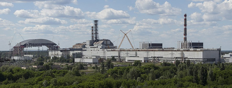 Chernobyl NPP Site Panorama with NSC Construction - June 2013