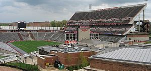 Maryland Terrapins football under Jim Tatum - Byrd Stadium (pictured here with the upper deck, a modern addition) was completed in time for the 1950 season.