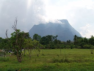 Chiang Dao Wildlife Sanctuary - Doi Chiang Dao is the highest peak in the sanctuary.