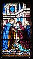Chiesa delle carceri, int., vetrata su disegno del ghirlandaio, visitazione.JPG