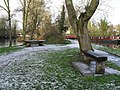 Chilly seats by the canal at Guildford - geograph.org.uk - 1629750.jpg