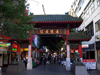Australian cuisine - Chinatown, Sydney; Multiculturalism and immigration has contributed to the development of a diverse cuisine.