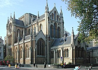Bloomsbury - The Church of Christ the King, Bloomsbury was built in 1850.