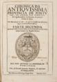 Chronica da Antiquissima Província de Portugal, da Ordem dos Eremitas de S. Agostinho Bispo de Hippônia, & principal Doutor da Igreja (Lisboa, 1656).png
