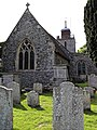 Church of St Mary the Virgin, Woodnesborough, Kent - churchyard and chancel.jpg