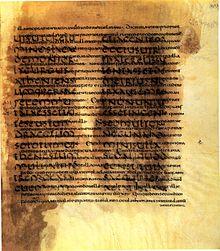 Cicero, De re publica, Fragment (Palimpsest). Biblioteca Apostolica Vaticana, Vaticanus Lat. 5757, fol. 277r (4./5. Jahrhundert) (Quelle: Wikimedia)