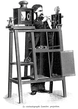 Cinematograph - The Cinématographe Lumière in projection mode