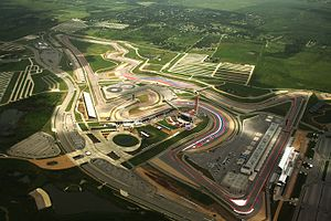 2014 United States Grand Prix - The Circuit of the Americas (pictured in 2015), where the race was held.