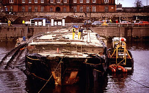 City of Adelaide being raised at Govan in 1991.jpg