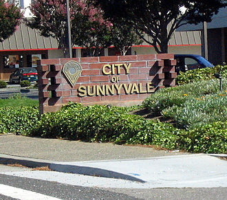 Sunnyvale, California - Standard marker at city entrances