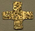 Cividale, necropoli di san salvatore di maiano, croce in oro, 590-610 ca.jpg