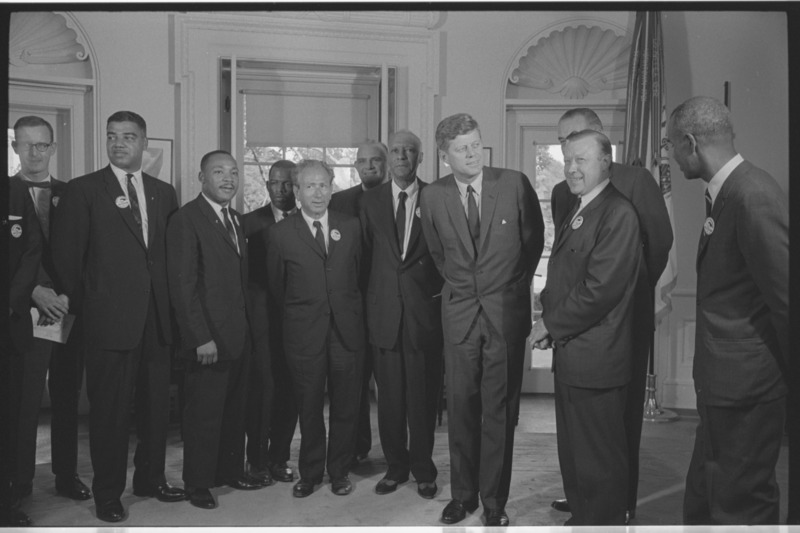 File:Civil rights leaders meet with President John F. Kennedy1.tiff