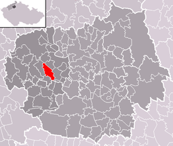 Location of Čížkovice