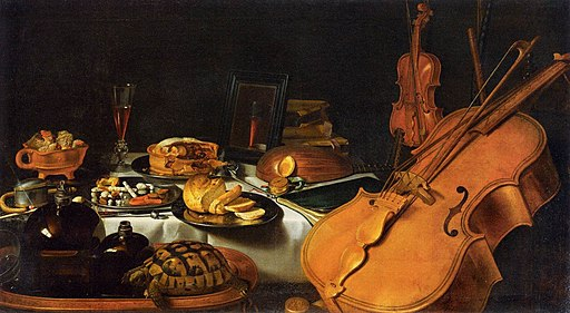Claesz., Pieter - Still Life with Musical Instruments - 1623