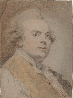 Claude-Jean-Baptiste Hoin - Self portrait of the artist, c. 1780, at the National Gallery of Art