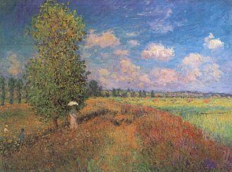 Papaver rhoeas - Image: Claude Monet L'été Champ de coquelicots