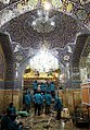 Cleaning of Fatima Masumeh shrine, Qom - 28 September 2011 07.jpg