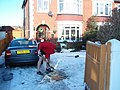 Clearing the snow on Christmas Day - geograph.org.uk - 1632702.jpg