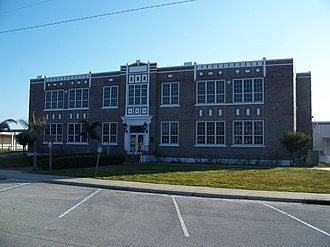 National Register of Historic Places listings in Hendry County, Florida - Image: Clewiston FL Historic School 325 01