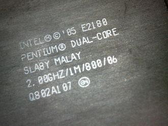 Pentium Dual-Core - Image: Closeup of intel pentium E2180