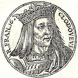 """Clovis IV - Clovis IV, from """"Promptuarii Iconum Insigniorum"""" (1553)"""