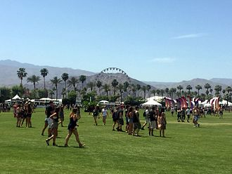 Coachella Valley Music and Arts Festival - A view of the ferris wheel from the polo grounds during Coachella 2015