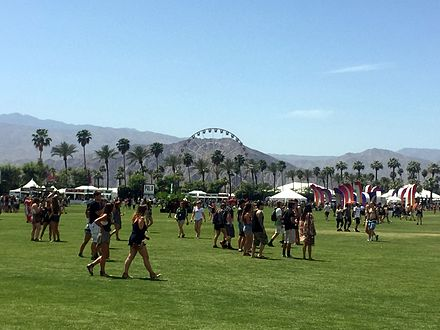 A view of the ferris wheel from the polo grounds during Coachella 2015 Coachella 2015 ferris wheel from field.jpg