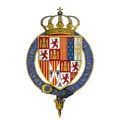 Coat of Arms of Ferdinand II, King of Aragon and Castile, KG.png