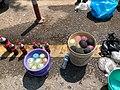 Coca Cola bottles and water balloons to extinguish gas grenades Yangon.jpg