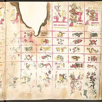 Codex Borgia - Image: Codex Borgia page 1