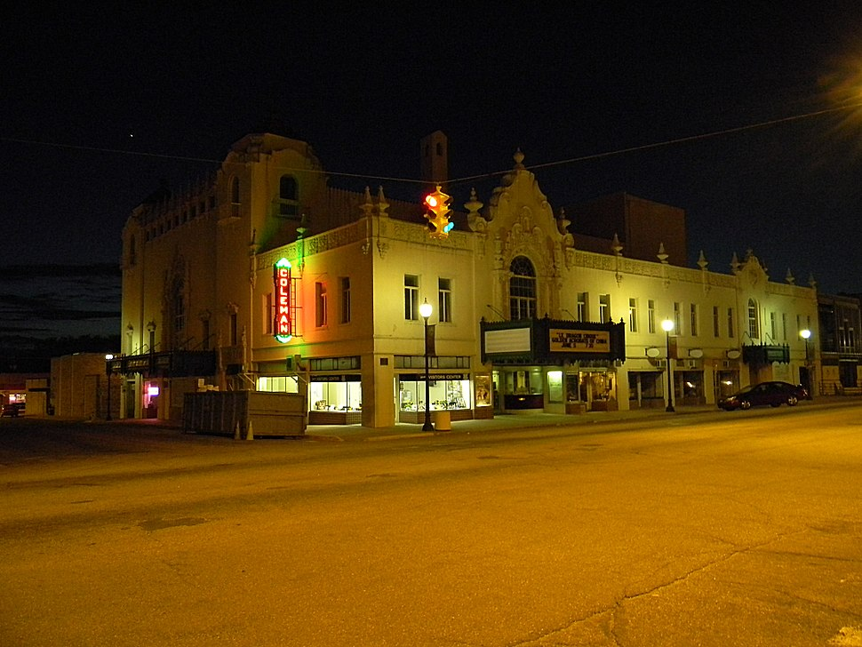 Coleman Theater at Night