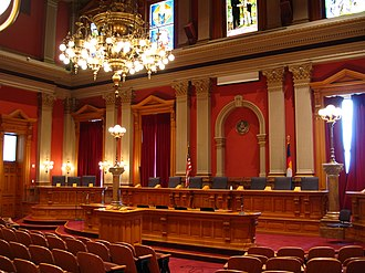 Colorado State Capitol - Image: Colorado State Capitol Supreme Court Chambers gobeirne