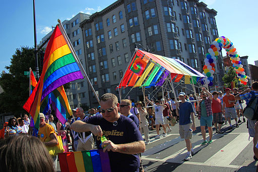 Colorful street scene - DC Gay Pride Parade 2012