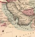 Colton's Persia Arabia etc (cropped-El Hassa or El Hejer).png