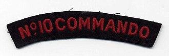 No. 10 (Inter-Allied) Commando - Image: Commando Badge Nr 10A
