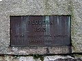 Commemorative plaque on Pipers Hill monument - geograph.org.uk - 645560.jpg
