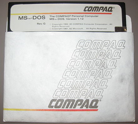 MS-DOS version 1.12 for Compaq Personal Computers Compaq mddos ver1-12.jpg