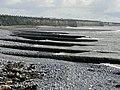 Concrete groynes on the Leys Beach, Aberthaw. - geograph.org.uk - 1190878.jpg