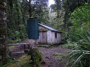 Tararua Forest Park - Cone Hut, one of the oldest huts in the Tararuas
