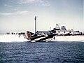Convair XF2Y-1 Sea Dart landing on shore.jpg