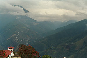 Yungas Road - The new Yungas Road, as seen from Coroico