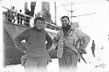 Correll & Laseron, taken on floe ice at the Western Base A128123h.jpg