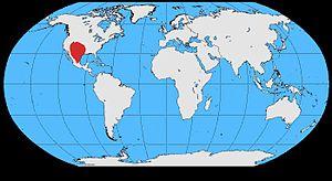 Chihuahuan raven - Image: Corvus cryptoleucos map