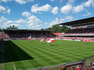 Stadion der Freundschaft (Cottbus) - Image: Cottbus Stadion der Freundschaft