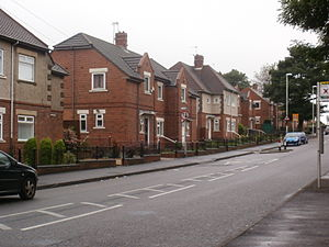 Carr Hill - Typical 1920's council housing at Carr Hill Road