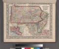County map of Pennsylvania, New Jersey, Maryland and Delaware; City of Philadelphia (inset); City of Baltimore (inset). NYPL1510803.tiff